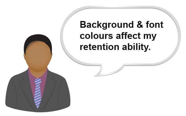 How can the Spell Aid Dictionary app help a student with poor retention due to colour sensitivity issues?